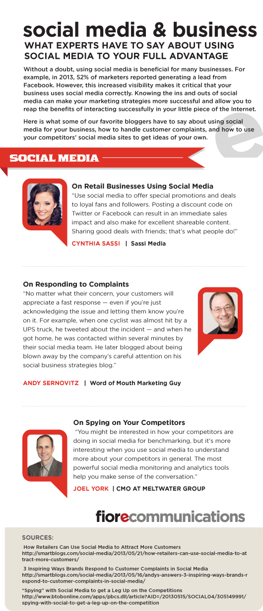 Social Media and Business Infographic | Fiore Communications