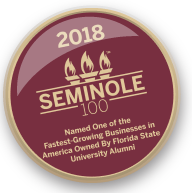 seminole 100 logo button